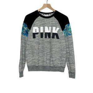 VS Pink Gray Black Logo Crewneck Sweatshirt
